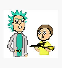 -RICK AND MORTY- Retro Pixel  Photographic Print
