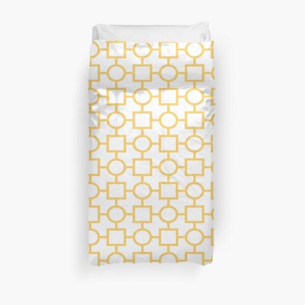 Circle Square Pattern Duvet Cover