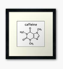 caffeine molecule formula Framed Print