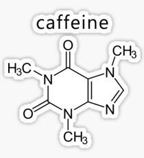 caffeine molecule formula Sticker
