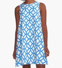 Overlapping Circle Pattern A-Line Dress