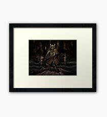 Japanese classical elements - Earth Framed Print