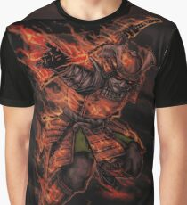 Japanese classical elements - Fire Graphic T-Shirt