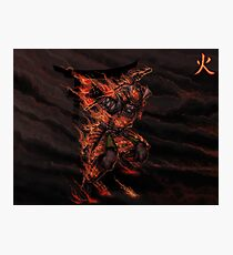 Japanese classical elements - Fire Photographic Print