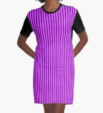 Pink and Purple Striped Dress Graphic T-Shirt Dress