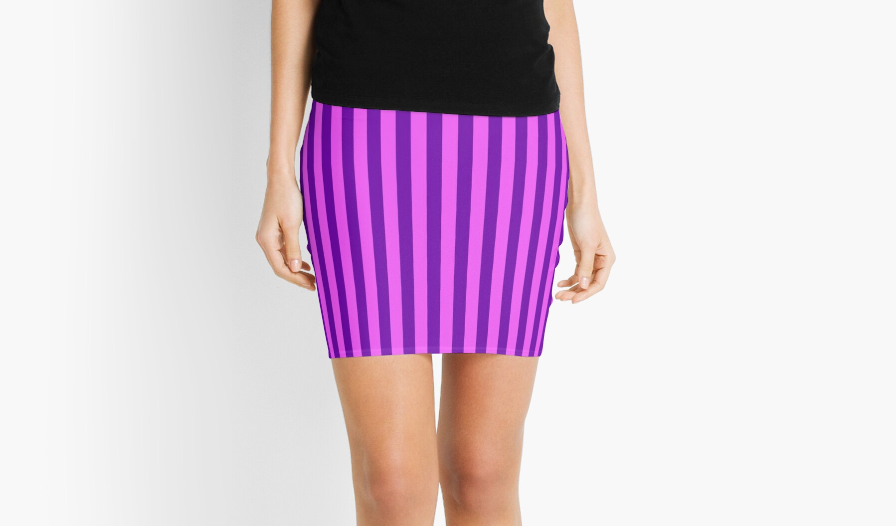 Pink And Purple Striped Dress Mini Skirts By Deanworld Redbubble