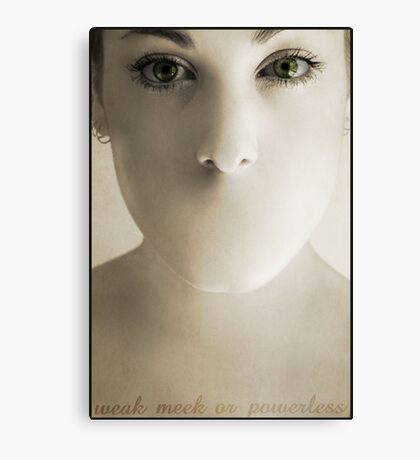 I Am Not Canvas Print