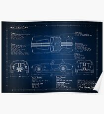 Shelby Cobra Blueprint Poster