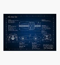 Shelby Cobra Blueprint Photographic Print