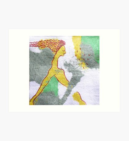 mermaid sleep Art Print