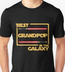 Father's Day Gift Best Grandpop in Galaxy T-Shirt