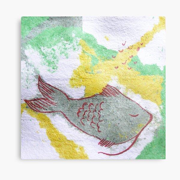 fish sleep Metal Print