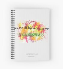 You are all the colors in one Spiral Notebook