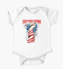 Faith Family Freedom Patriotic Flag July 4th Holiday T-Shirt Kids Clothes