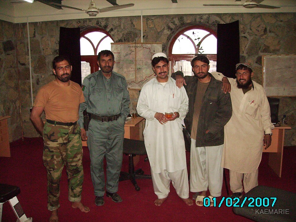 LOCAL AFGHANS LEARNING FROM USA ARMY by KAEMARIE