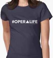 #OperaLife White Women's Fitted T-Shirt