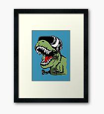 VR T-rex Framed Print