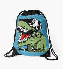 VR T-rex Drawstring Bag