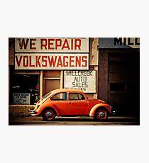 We Repair Volkswagens Photographic Print