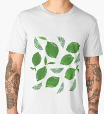 Cut + Paste Lime Pattern Men's Premium T-Shirt