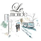 Montreal Streets in The Snow - Le Monde by Elizabeth Reoch