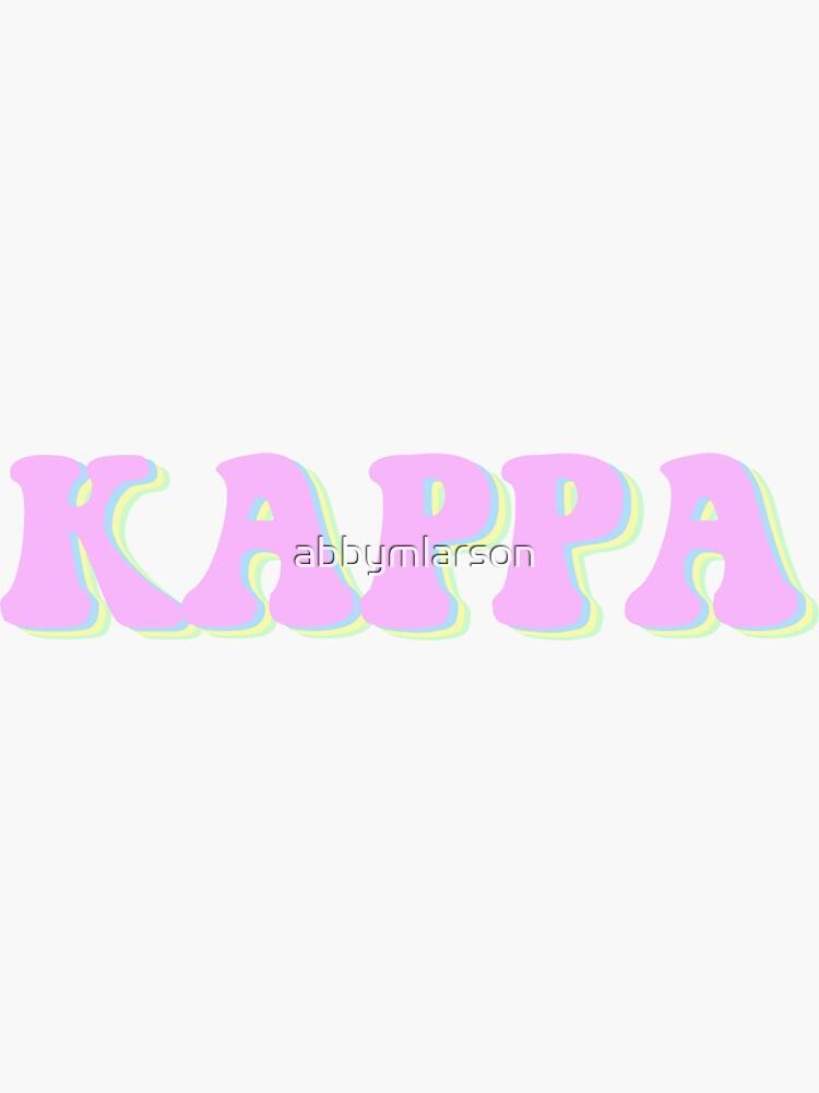Groovy Kappa Sticker by abbymlarson