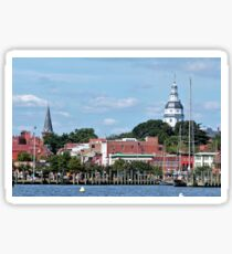 Downtown Annapolis by Bay Sticker