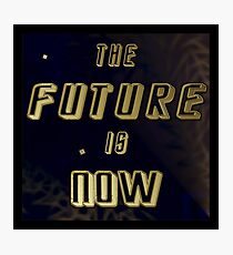 The Future is Now - Gold in Space w/Solar Wind Photographic Print
