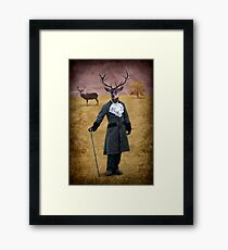 The man who changed himself into a deer Framed Print