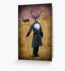 The man who changed himself into a deer Greeting Card