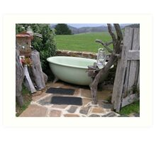 a tub with a view Art Print