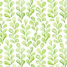Green Succulent Leaf Branches by Dina June Toomey