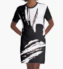 Sumi Strokes Graphic T-Shirt Dress