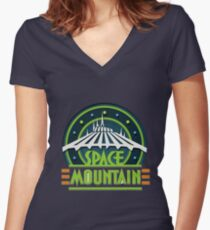 Space Mountain Women's Fitted V-Neck T-Shirt