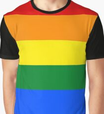 Gay Pride Flagge / Regenbogen Grafik T-Shirt