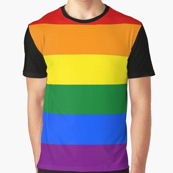 Gay Pride Flag / Rainbow Graphic T-Shirt