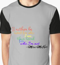 Mileschronicles graphic t shirts redbubble for Miles t shirt shop