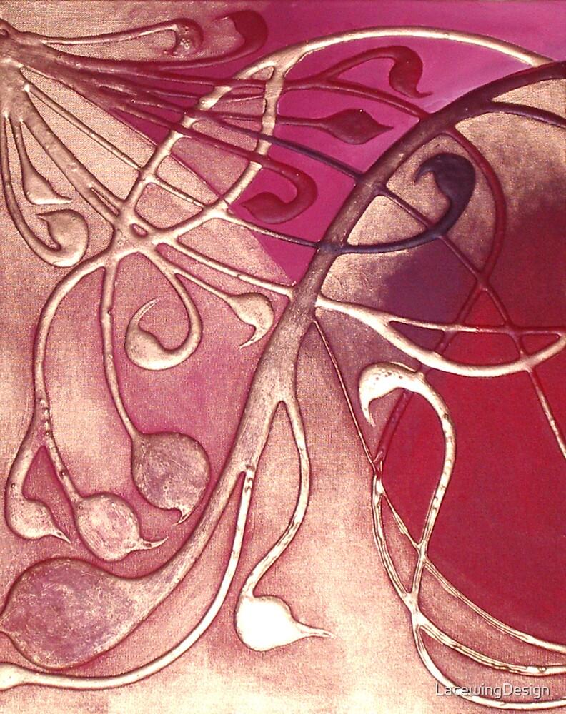 ABSTRACT BOTANICAL NOUVEAU COLLECTION ~ ROSE GARDEN by LacewingDesign