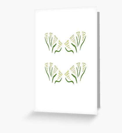 Green & Gold Bouquet Greeting Card