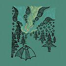 Aurora Borealis Skizze von Hinterlund