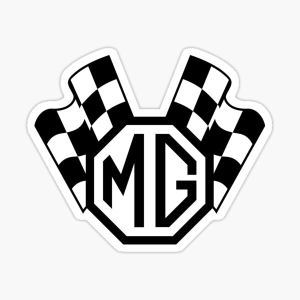 MG Checkered Flags clear Sticker