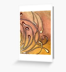 ABSTRACT BOTANICAL NOUVEAU COLLECTION Greeting Card
