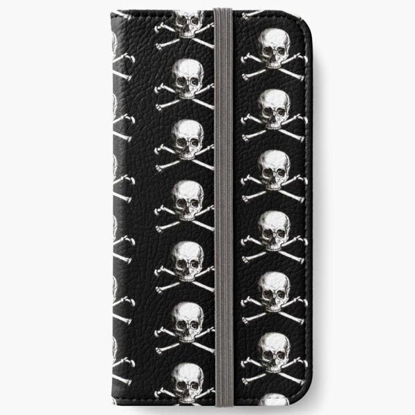 Skull and Crossbones   Jolly Roger   Pirate Flag   Deaths Head   Black and White   Skulls and Skeletons   Vintage Skulls   iPhone Wallet