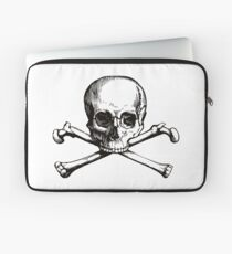 Skull and Crossbones | Black and White Laptop Sleeve