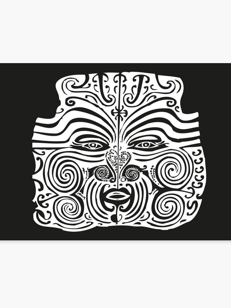 Impression Sur Toile Maori Moko Tatouage Tribal Nouvelle