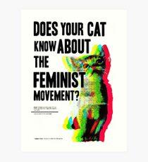 feminism women-logo Art Print