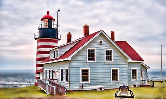West Quoddy Head Lighthouse by Richard Bean