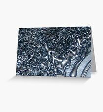 SILVER STORM ~ ABSTRACT TEXTURAL FLUID PAINTING Greeting Card
