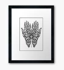 Mehndi Tattoo Hands | Black and White Framed Print