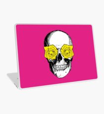 Skull and Roses | Pink and Yellow Laptop Skin